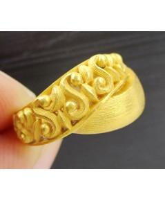 แหวน Prima Gold ทอง24K ฉลุลายไขว้ งานสวย น่ารักมาก นน. 8.77 g