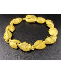 สร้อยข้อมือ Prima Gold ทอง24K ลายดอกกุหลาบ รอบเส้น งานสวยมาก นน. 35.72 g