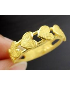 แหวน Gold Master ทอง24K ลายแถวหัวใจ งานสวย น่ารักมาก นน. 3.99 g
