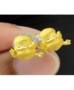 ต่างหู Prima Gold ทอง24K ลายลูกเจี๊ยบ งานสวย น่ารักมาก นน. 2.91 g