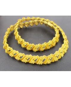สร้อยคอ Prima Gold ทอง24K ลายดอกไม้ 2 แถวคู่ รอบเส้น งานสวยมาก สภาพใหม่มากๆ นน. 87.78 g