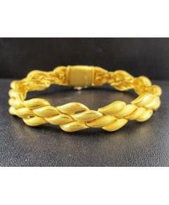 สร้อยข้อมือ Prima Gold ทอง24K ลายเมล็ดข้าวสาร 4 แถว รอบเส้น งานสวยมาก นน. 41.76 g