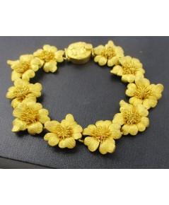 สร้อยข้อมือ Gold Master ทอง24K ลายดอกไม้ รอบเส้น งานสวยมาก นน. 73.67 g