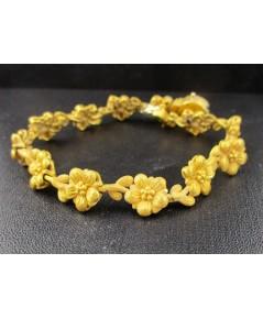 สร้อยข้อมือ Prima Gold ทอง24K ลายดอกไม้ รอบเส้น งานสวย น่ารักมาก นน. 29.43 g