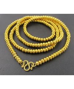 สร้อยคอ เม็ดประคำ รอบเส้น ทอง90 งานเก่า ทองโบราณ สวยมาก นน. 44.00 g