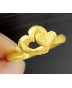 แหวน Prima Gold ทอง24K รูปหัวใจ งานสวย น่ารักมาก นน. 4.09 g