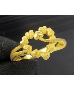 แหวน Prima Gold ทอง24K ฉลุลาย หัวใจ งานสวย น่ารักมาก นน. 4.85 g