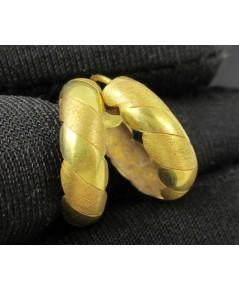 ต่างหู ห่วงทอง ลายเกลียว ทอง90 งานเก่า หลุดจำนำ สวยมาก นน. 1.76 g