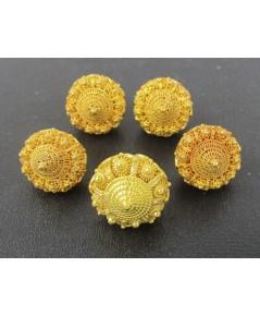 กระดุม ดอกบัว สัตตบงกช 5 เม็ด ทอง96.5 ทองเก่า งานโบราณ สวยมาก นน. 26.60 g