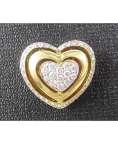 จี้ เพชร Jubilee กระจุกหัวใจ เพชร 45 เม็ด 0.49 กะรัต ทอง18K งานสวย น่ารักมาก นน. 4.86 g