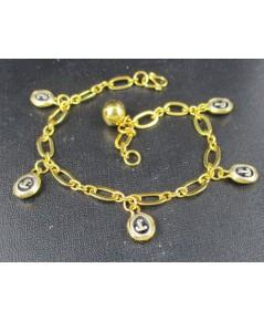 สร้อยข้อมือ หัวนะโม กระพรวน ตุ้งติ้ง ทอง90 งานเก่า หลุดจำนำ สวยมาก นน. 8.95 g