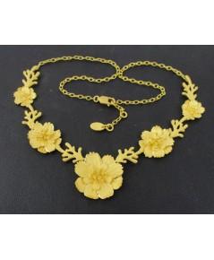 สร้อยคอ Gold Master ทอง24K ลาย ดอกไม้ 5 ดอก ตุ้งติ้ง ครึ่งหน้า งานสวยมาก นน. 30.42 g