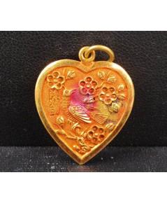 จี้ ทอง100 หัวใจ ดอกไม้ นก ทองเก่า งานโบราณ สวยมาก นน. 3.85 g