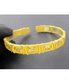 กำไล 12 ราศี  Gold Master ทอง24K 2 กษัตริย์ งานสวยมาก นน. 27.62 g