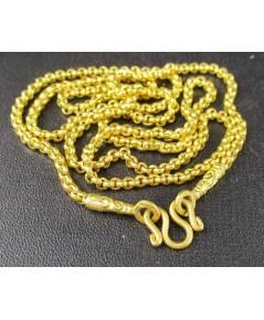 สร้อยคอ ทอง96.5 ลายผ่าหวาย ทองเก่า งานโบราณ สวยมาก นน. 15.25 g
