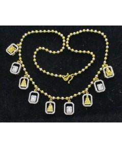 สร้อยคอ พระเนื้อทองคำ กรอบทอง90 ล้อมเพชร 259 เม็ด 2.00 กะรัต สานสร้อยทอง96.5 งานสวยมาก นน. 27.44 g