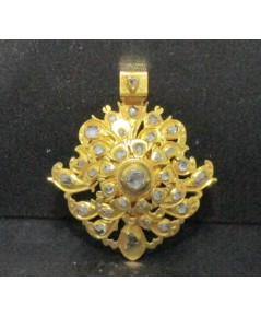 จี้ อุบะ เพชรซีก ฉลุลาย ตุ้งติ้ง ทอง90 งานเก่า หลุดจำนำ สวยมาก นน. 14.31 g