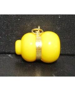 จี้ น้ำเต้า ดูดทรัพย์ หลวงพ่อสด วัดปากน้ำ สีเหลือง เลี่ยมทอง ความหมายดี น่าเก็บสะสม นน. 1.80 g