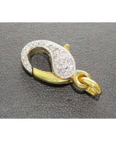 ตะขอ ทองคำ ฝังเพชรเกสร 36 เม็ด 0.20 กะรัต ทอง14K หลุดจำนำ งานสวย มาก นน. 5.30 g