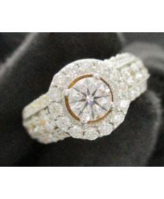 แหวน เพชรชู Jubilee 0.50 กะรัต D color vvs2 ฝังเพชร 50 เม็ด 1.41 กะรัต ทอง18K เพชรสวยมาก นน. 8.16 g