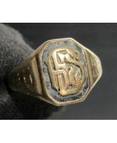 แหวน ฉลุลาย อักษร ทอง10K งานนอก หลุดจำนำ สวยมาก นน. 4.05 g