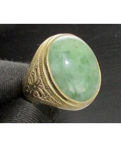 แหวน หยก หลังเบี้ย ทอง90 งานเก่า หลุดจำนำ สวยมาก นน. 12.24 g