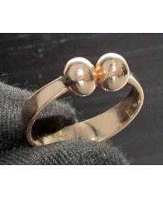 แหวน นาก40 เม็ดกลมไขว้ งานเก่า หลุดจำนำ สวยมาก นน. 2.10 g