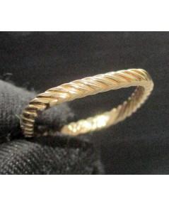 แหวน เกลียวเชือก อิตาลี750 18K สี Pink gold หลุดจำนำ งานสวยมาก นน. 2.60 g
