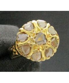 แหวน เพชรซีก กระจุกกลม ทอง90 งานเก่า หลุดจำนำ สวยมาก นน. 4.96 g