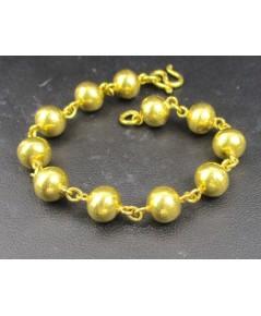 สร้อยข้อมือ ลายเม็ดประคำ รอบเส้น ทอง96.5 ทองเก่า งานโบราณ สวยมาก นน. 15.20 g