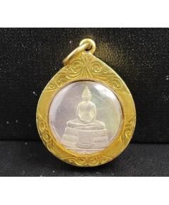 เหรียญ พระพุทธโสธร หลังพระพุทธชินราช เลี่ยมทองเก่า นน. 8.16 g