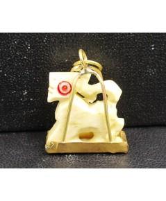 สิงห์ งาแกะสลัก เลี่ยมทองเก่า นน. 1.84 g