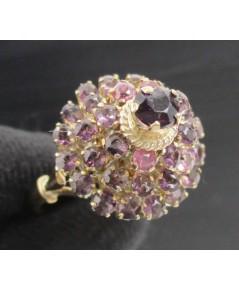 แหวน ทับทิม เจียร ทรงพุ่ม ทอง9K หลุดจำนำ งานสวยมาก นน. 3.70 g