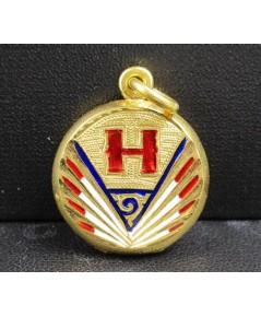 จี้ ตลับ ทองลงยา อักษร H เป็ดแมนดารินคู่ เปิดได้ ทอง90 งานเก่า สวยน่าสะสม นน. 6.91 g