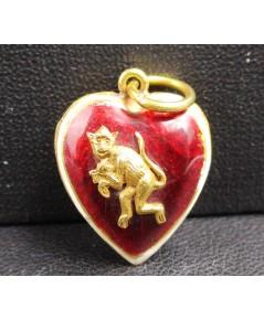 จี้ หัวใจ ทองลงยา ลิง ปีวอก ทอง90 งานเก่า สวยน่าสะสม นน. 2.46 g