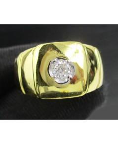 แหวน เพชรเดี่ยว 0.16 กะรัต ทอง18K งานเก่า หลุดจำนำ งานสวยมาก นน. 9.63 g