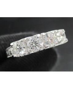 รหัสสินค้า: 47870  แหวน เพชรแถวชู 4 เม็ด 0.88 กะรัต ทอง90 ชุบขาว เพชรสวย เล่นไฟ วิ้ง วิ้ง นน. 5.80 g