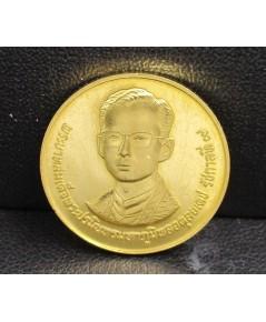 เหรียญทองคำ ที่ระลึก 60 พรรษา รัชกาลที่ 9 กรมธนารักษ์ 5 ธ.ค. 2530 สวยน่าสะสม นน. 7.67 g