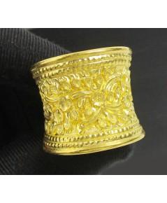 แหวน ทอง99.99 ตอกลายดอกไม้ งานสวย น่าเก็บสะสม นน. 10.55 g