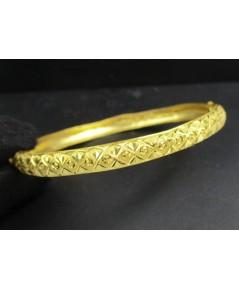 กำไล ทอง99.99 ตัดลายรุ้ง รอบวง เปิดข้าง ทองเก่า งานโบราณ สวยมาก นน. 7.60 g
