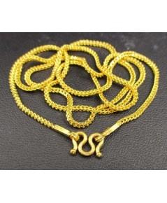 สร้อยคอ ทอง99.99 ลายซีตรอง ตัดลาย ทองเก่า งานโบราณ สวยมาก นน. 7.60 g