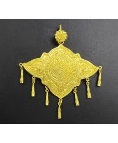 จี้ ตาบ ทอง99.99 ตอกลาย ระย้า ตุ้งติ้ง งานทองโบราณ สวยมาก นน. 18.96 g