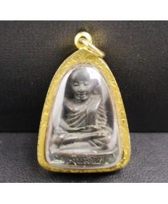 พระกริ่ง หลวงพ่อเงิน บางคลาน รุ่นเงินล้าน เนื้อทองเหลือง เลี่ยมทองเก่า นน. 18.48 g