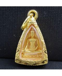 พระสมเด็จนางพญา สก. เนื้อทองคำ พิมพ์เล็ก ปี 2535 เลี่ยมตลับทอง นน. 16.66 g
