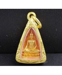 พระสมเด็จนางพญา สก. เนื้อทองคำ พิมพ์เล็ก ปี 2535 เลี่ยมตลับทอง นน. 14.52 g