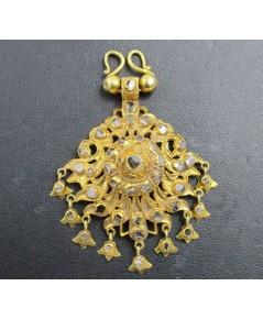 จี้ อุบะ เพชรซีก ฉลุลาย ตุ้งติ้ง ทอง90 งานเก่า หลุดจำนำ สวยมาก นน. 24.20 g