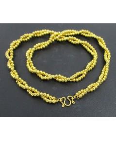 สร้อยคอ ทอง90 ลายเม็ดประคำ บิดเกลียว รอบเส้น ทองเก่า งานโบราณ สวยมาก นน. 24.50 g