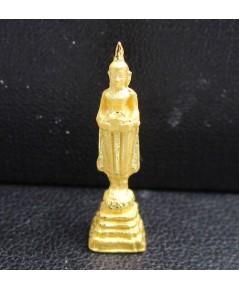 พระหลวงพ่อบ้านแหลม วัดเพชรสมุทร เนื้อทองคำ สวยน่าสะสม นน. 2.31 g