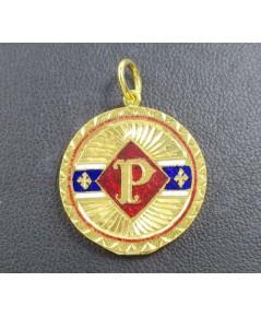 จี้ ตลับ ทองลงยา อักษร P เปิดได้ ทอง90 งานเก่า สวยน่าสะสม นน. 5.70 g