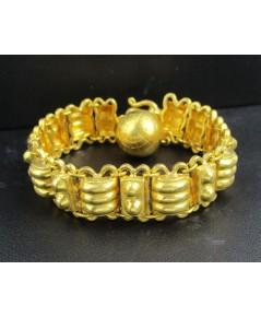 สร้อยข้อมือ ทอง100 ลายลูกคิด เม็ดกลม รอบเส้น ทองเก่า งานโบราณ สวยมาก นน. 60.75 g